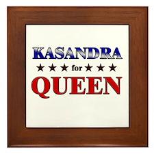KASANDRA for queen Framed Tile