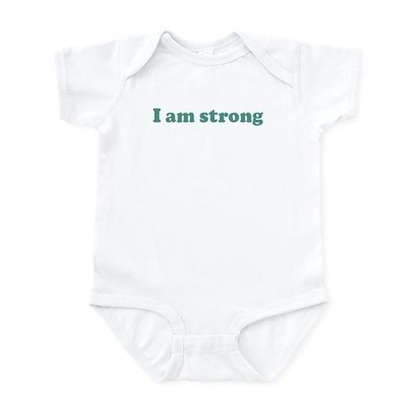 I am strong (blue) Infant Bodysuit