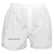 Peace is power (blue) Boxer Shorts