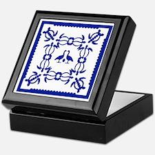 Blue Quilt Keepsake Box