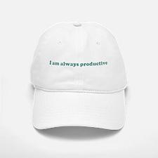 I am always productive (blue) Baseball Baseball Cap