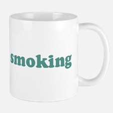 I can stop smoking (blue) Mug
