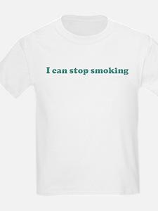 I can stop smoking (blue) T-Shirt