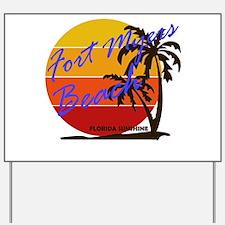 Florida - Fort Myers Beach Yard Sign