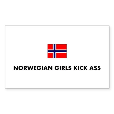Norwegian Girls Rectangle Sticker