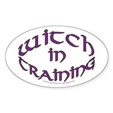Witch in training Oval Decal