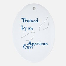 Trained by a Curl Keepsake (Oval)