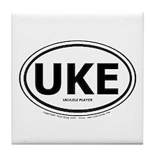 Funny Ukelele Tile Coaster