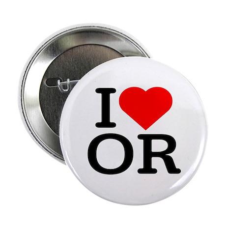 I Love Oregon - Button