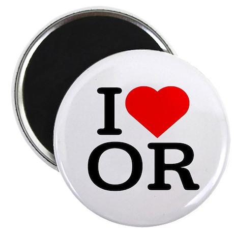 """I Love Oregon - 2.25"""" Magnet (100 pack)"""