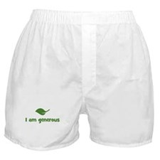 I am generous (leaf) Boxer Shorts
