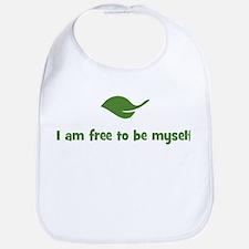 I am free to be myself (leaf) Bib