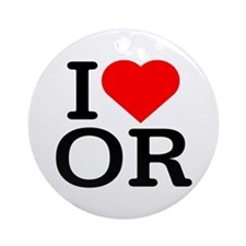 I Love Oregon - Keepsake (Round)