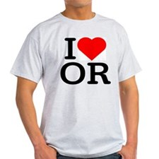 I Love Oregon - Ash Grey T-Shirt