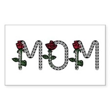 Mom - Any Name In Diamonds Rectangle Decal