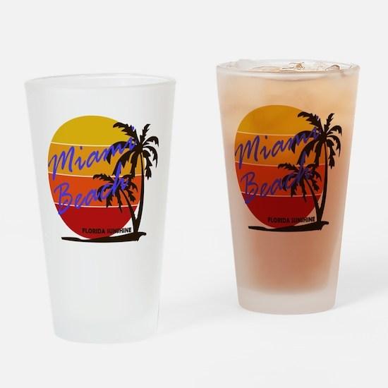 Florida - Miami Beach Drinking Glass