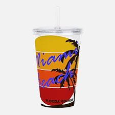 Florida - Miami Beach Acrylic Double-wall Tumbler