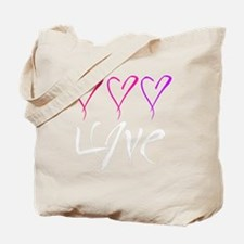 Lots of Love Dark T's Tote Bag