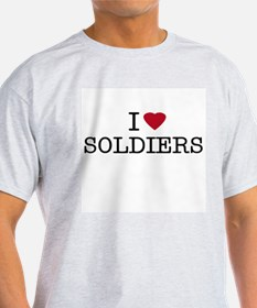 I Heart Soldiers Ash Grey T-Shirt