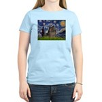 Starry Night /Pomeranian(bndl ) Women's Light T-Sh