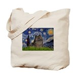 Starry Night /Pomeranian(bndl ) Tote Bag