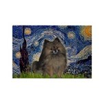 Starry Night /Pomeranian(bndl ) Rectangle Magnet (