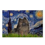 Starry Night /Pomeranian(bndl ) Postcards (Package