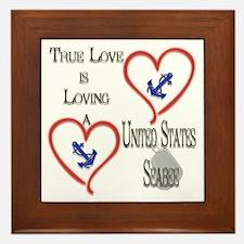 2 Hearts Seabee Framed Tile