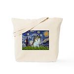 Starry Night /Pomeranian (p) Tote Bag