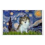 Starry Night /Pomeranian (p) Sticker (Rectangle)