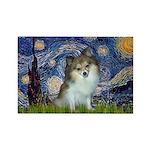 Starry Night /Pomeranian (p) Rectangle Magnet