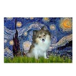 Starry Night /Pomeranian (p) Postcards (Package of