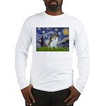 Starry Night /Pomeranian (p) Long Sleeve T-Shirt