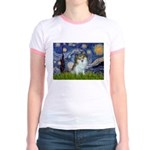 Starry Night /Pomeranian (p) Jr. Ringer T-Shirt