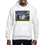 Starry Night /Pomeranian (p) Hooded Sweatshirt