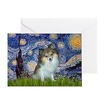 Starry Night /Pomeranian (p) Greeting Card