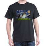 Starry Night /Pomeranian (p) Dark T-Shirt
