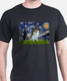 Starry Night /Pomeranian (p) T-Shirt