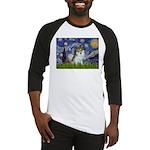 Starry Night /Pomeranian (p) Baseball Jersey