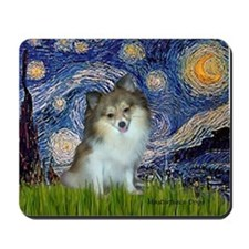 Starry Night /Pomeranian (p) Mousepad