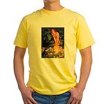 Fairies / Pomeranian (b&t) Yellow T-Shirt