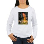 Fairies / Pomeranian (b&t) Women's Long Sleeve T-S
