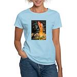 Fairies / Pomeranian (b&t) Women's Light T-Shirt