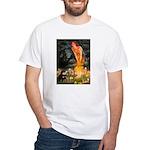 Fairies / Pomeranian (b&t) White T-Shirt