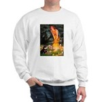 Fairies / Pomeranian (b&t) Sweatshirt
