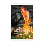 Fairies / Pomeranian (b&t) Sticker (Rectangle)