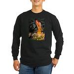 Fairies / Pomeranian (b&t) Long Sleeve Dark T-Shir