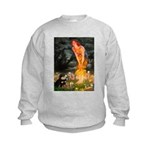 Fairies / Pomeranian (b&t) Kids Sweatshirt