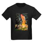 Fairies / Pomeranian (b&t) Kids Dark T-Shirt