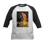 Fairies / Pomeranian (b&t) Kids Baseball Jersey